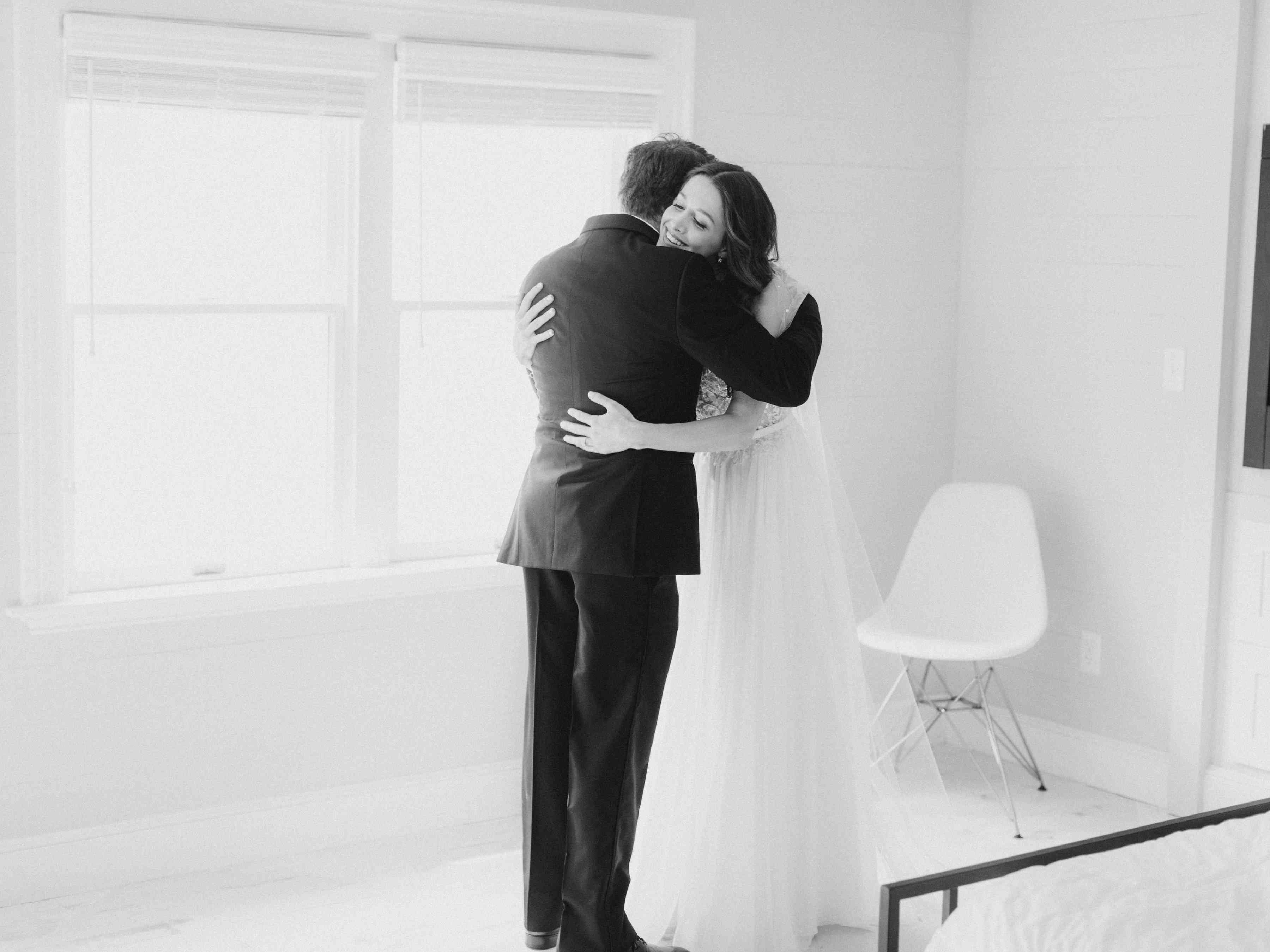 bride and dad