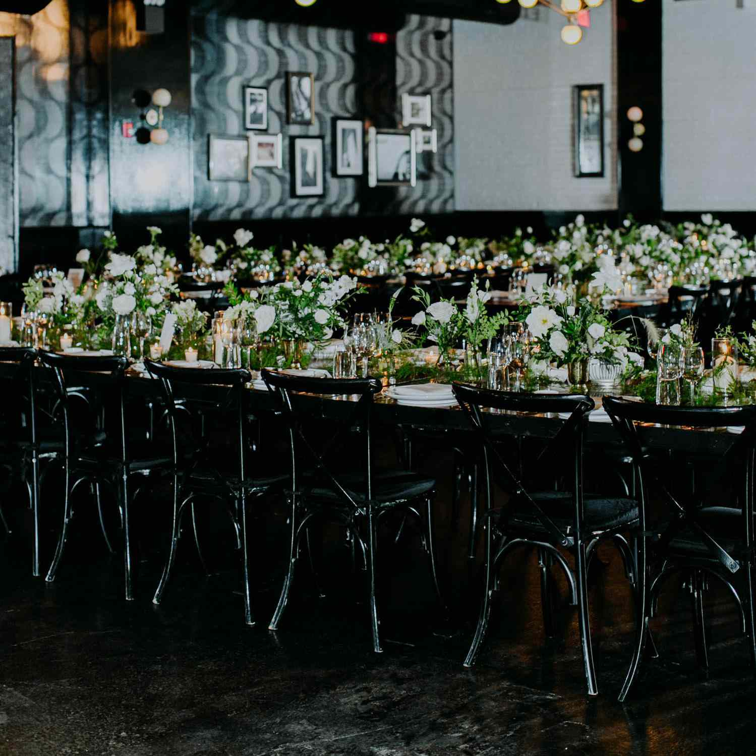 trend alert: 23 ways to use black details in your wedding decor