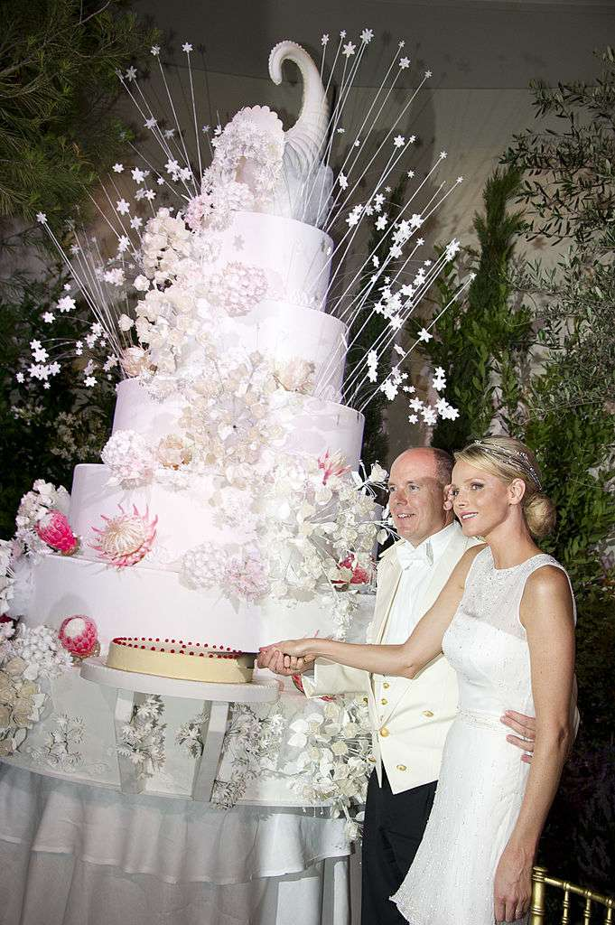 Princess Charlene of Monaco wedding cake