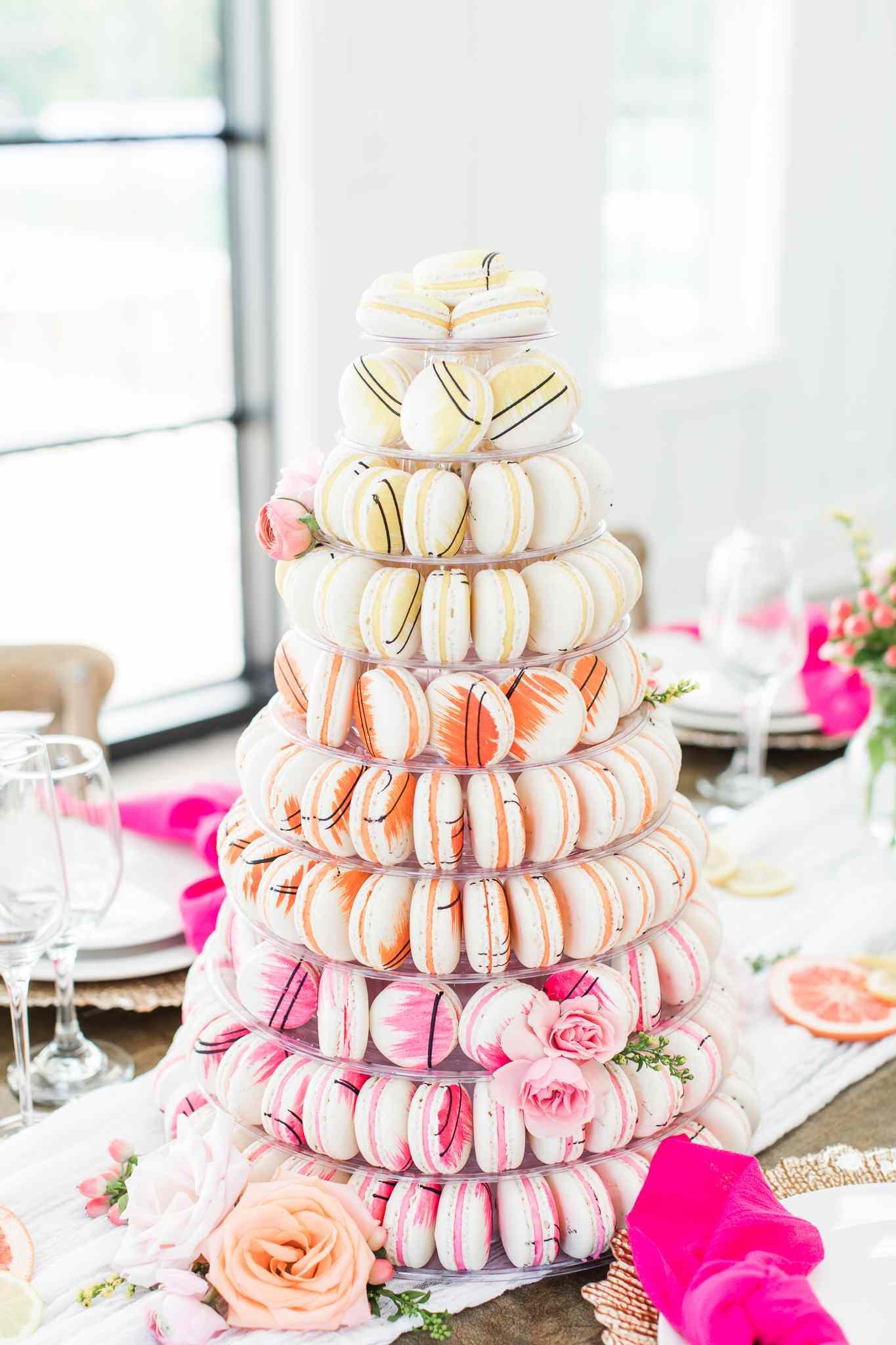 colorful macaron tower