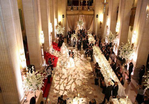 black tie wedding reception