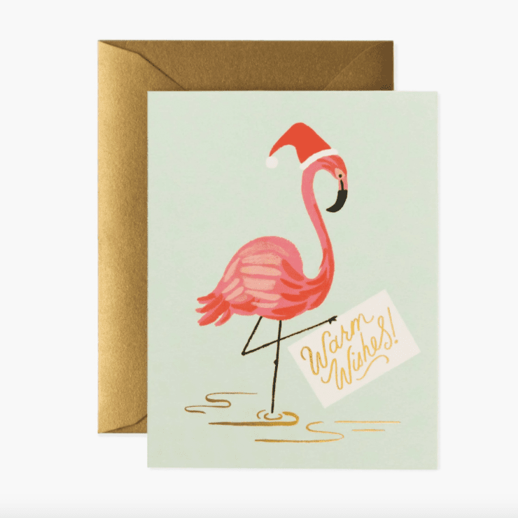 Rifle Paper Co. Holiday Flamingo Greeting Card Set of 8