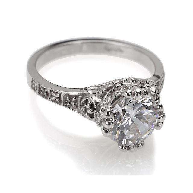 Catherine Angiel Gothic Inspired Engagement Ring