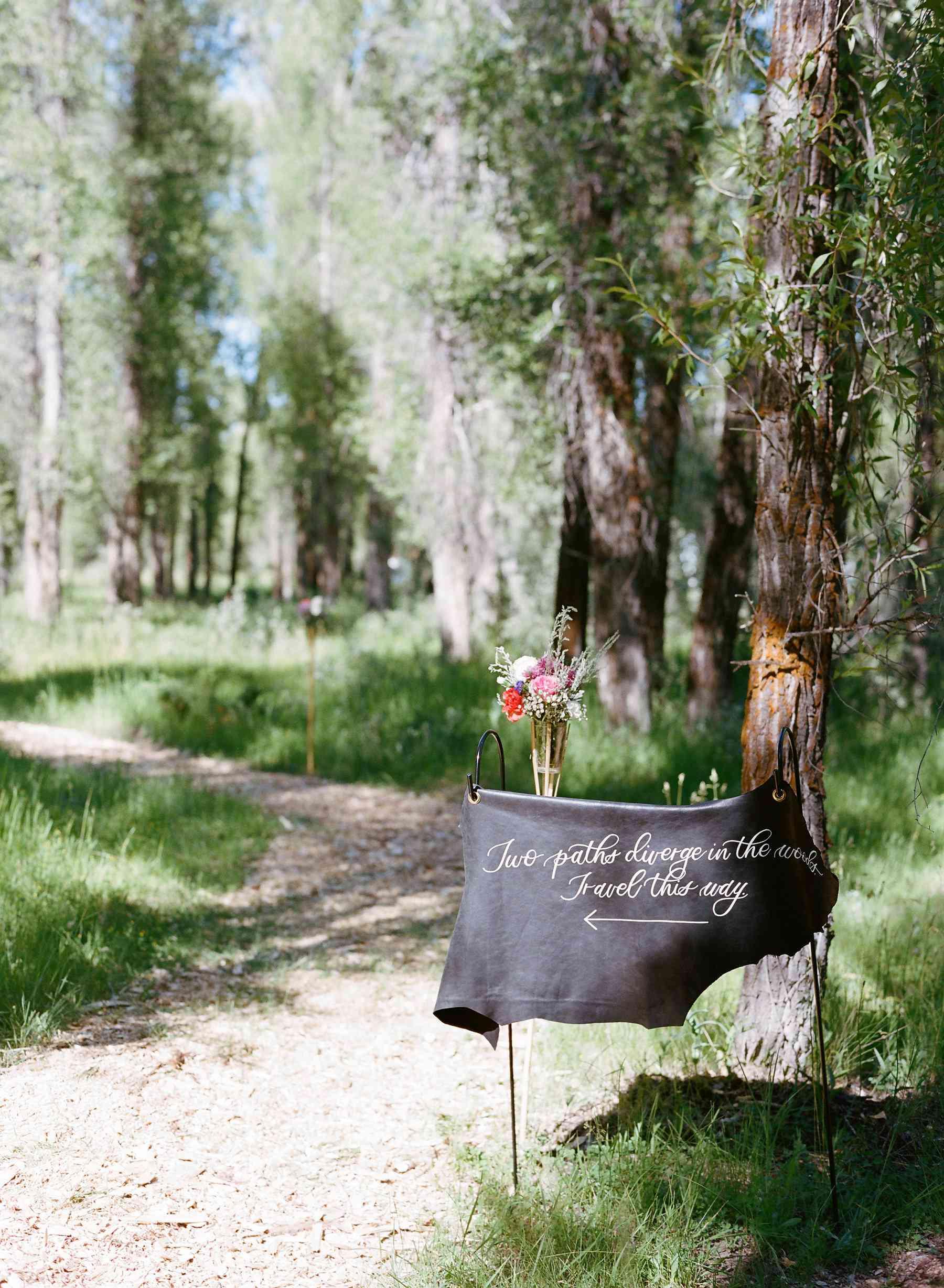 <p>Wedding sign</p>