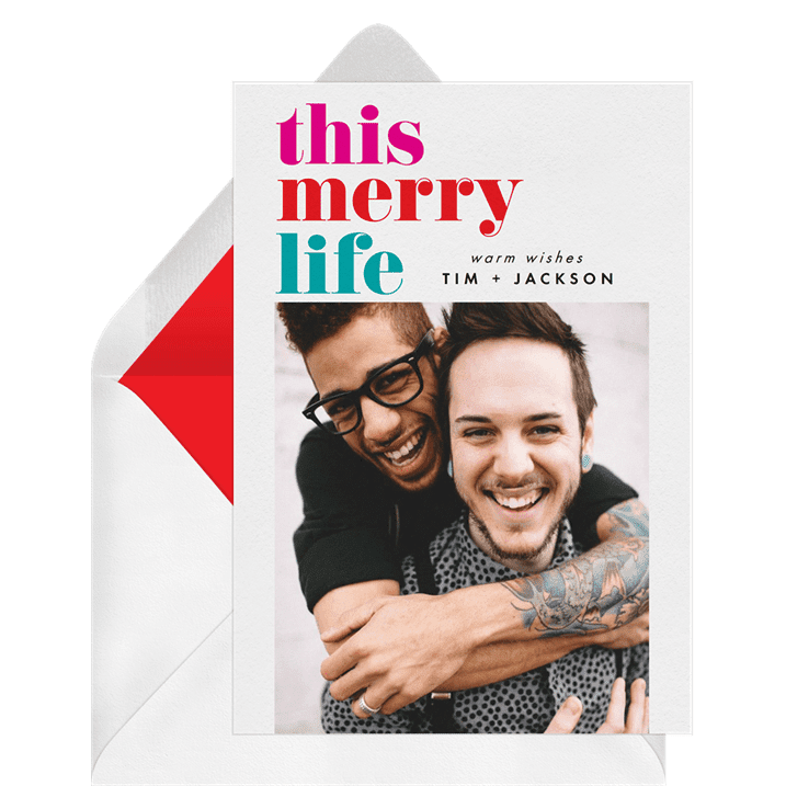 Greenvelope This Merry Life Card