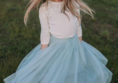 Look under girl dress