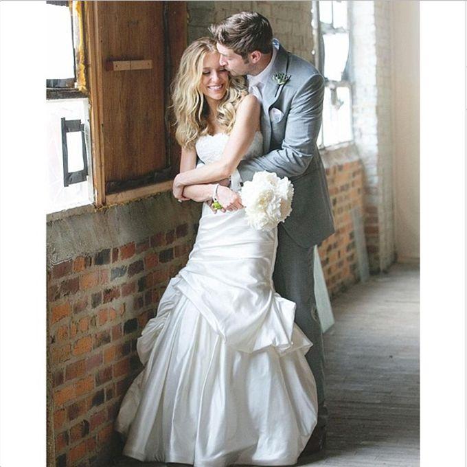 Kristin Cavallari marries Jay Cutler in Monique Lhuillier, 2013