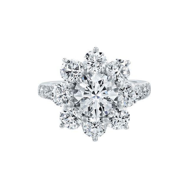 Harry Winston Sunflower Large Diamond Ring