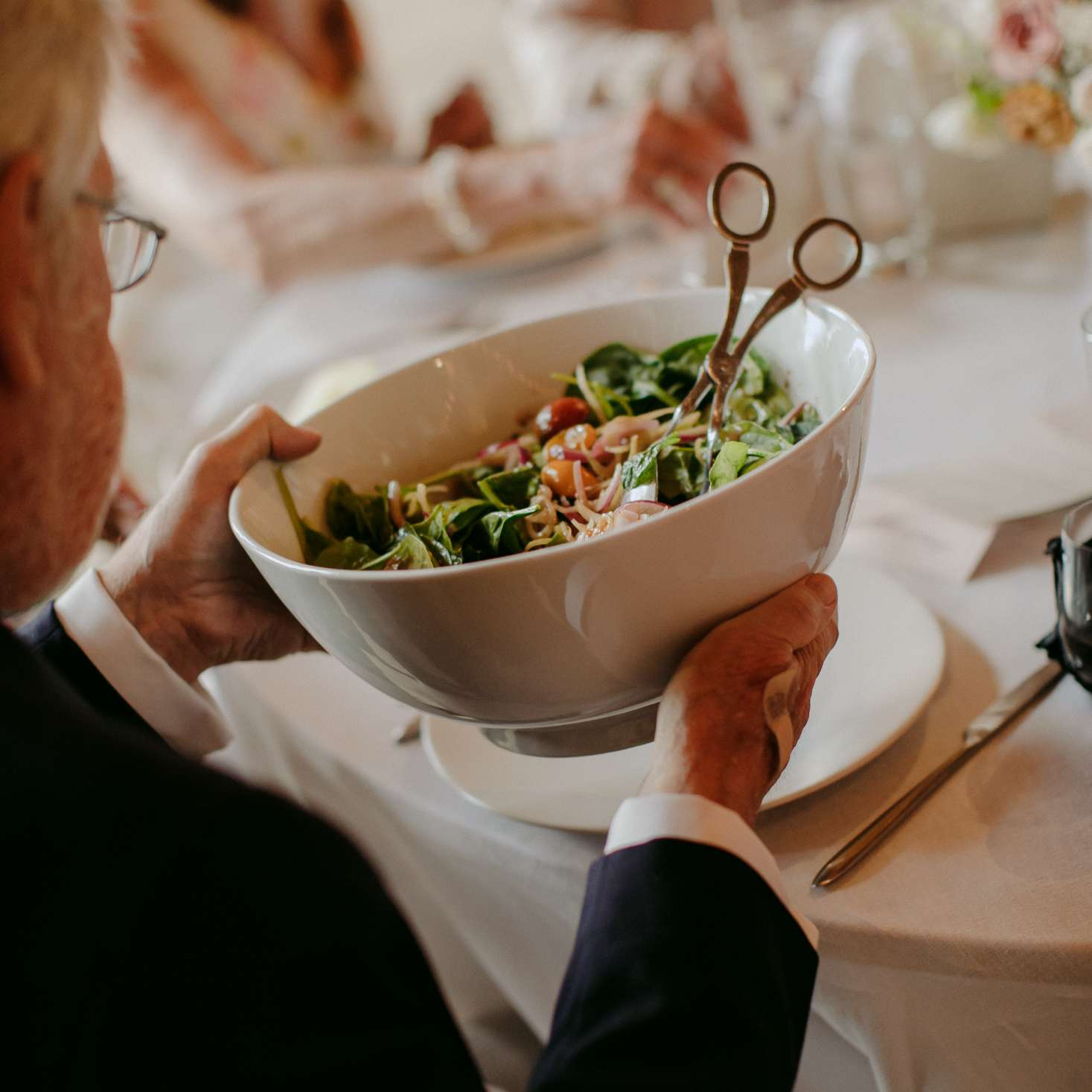 Family style reception catering