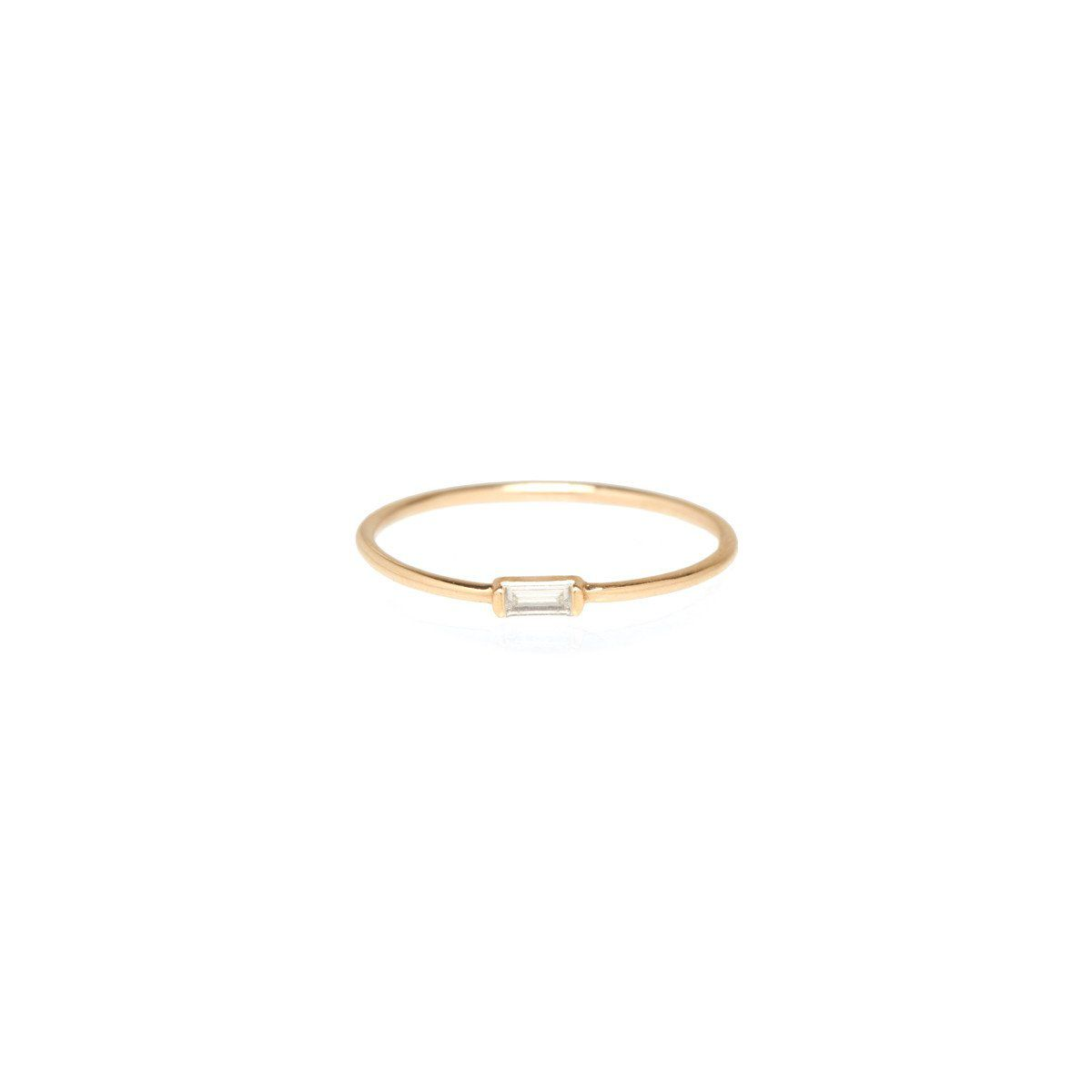 Zoë Chicco Horizontal Baguette Ring