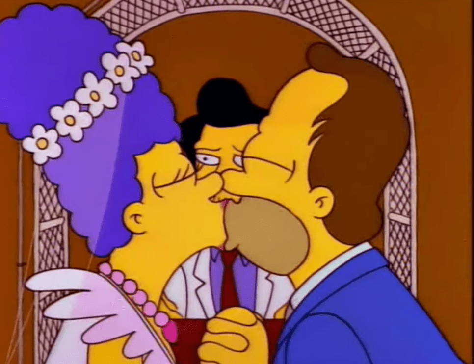 Marge and Homer Wedding