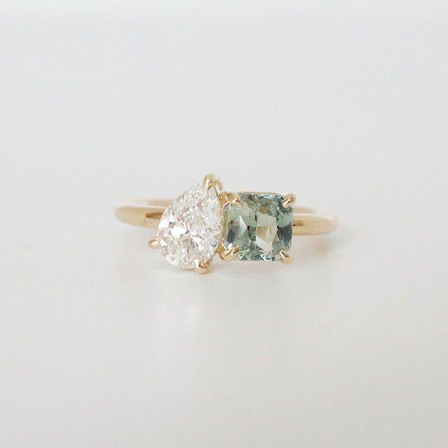 Brockton Gems Modern Moi Et Toi Engagement Ring