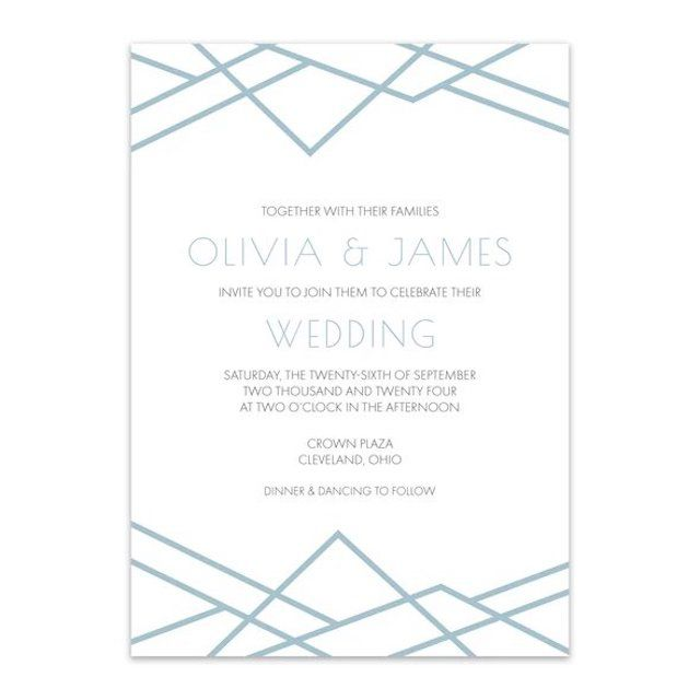 Blu Rose Designs Geometric Art Deco Wedding Invitations