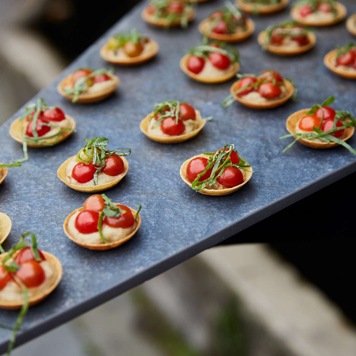 Mini eggplant tarts with tomato