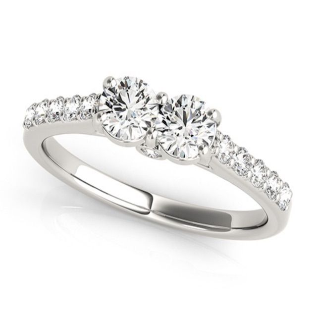 Yates Jewelers Kate Two Stone Diamond Ring