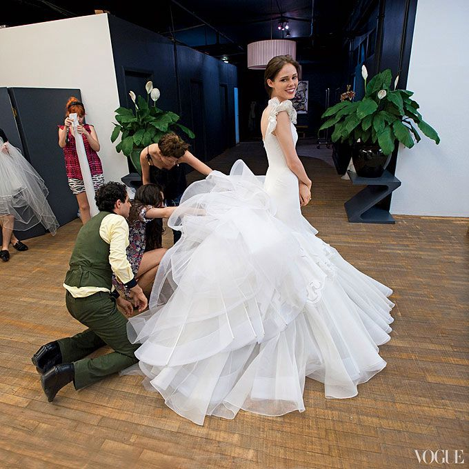 Coco Rocha marries James Conran in Zac Posen, 2010