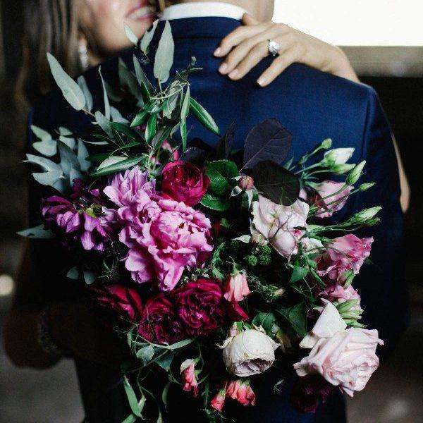 Moody Peony bouquet