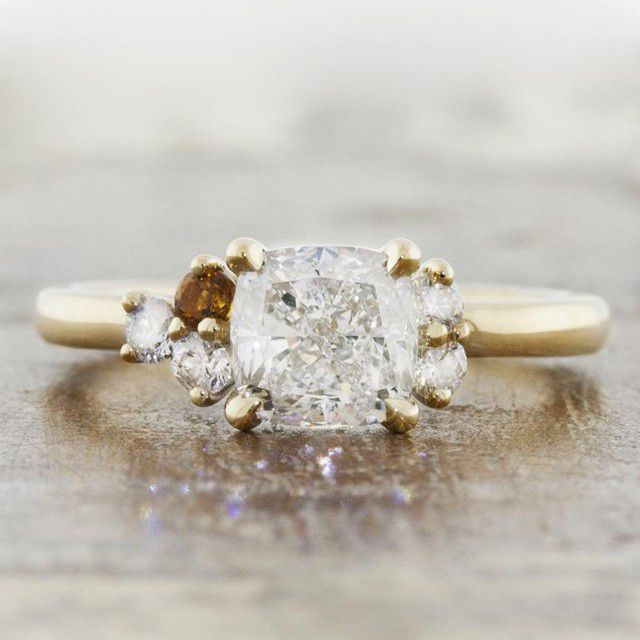 cluster ring gold band