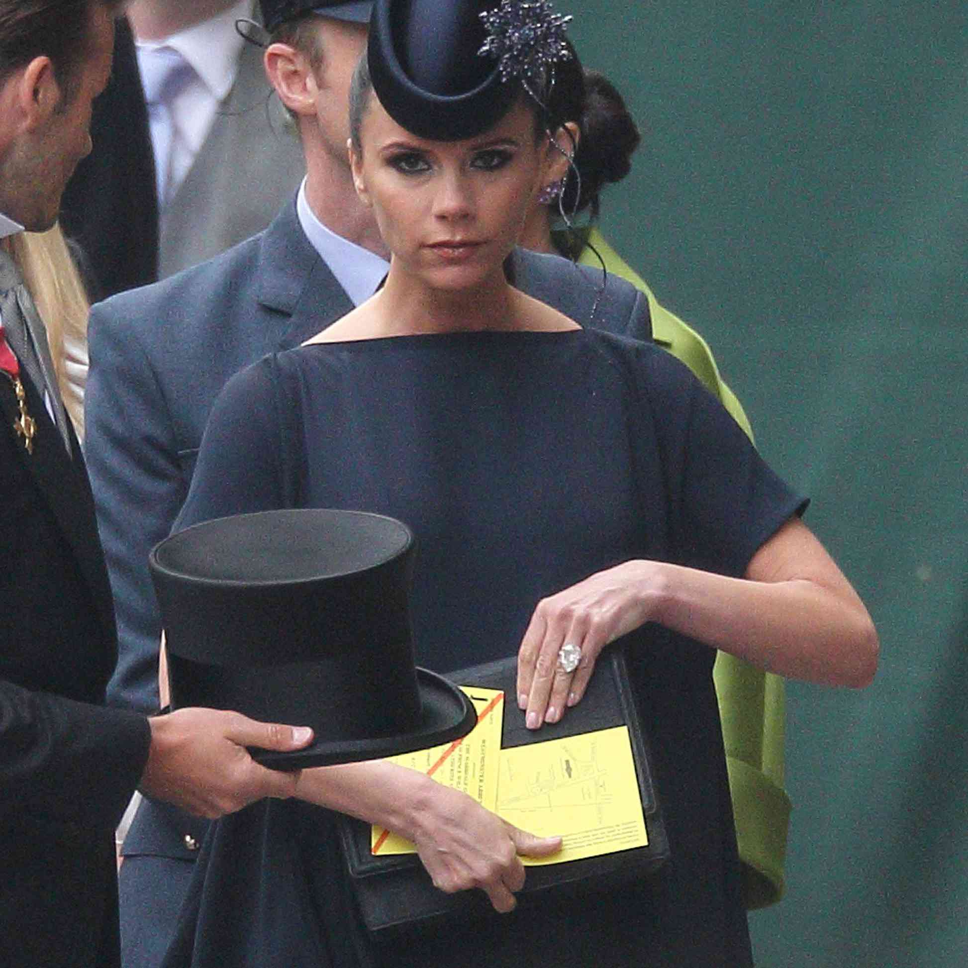 Victoria Beckham arrives to attend the Royal Wedding of Prince William to Kate Middleton