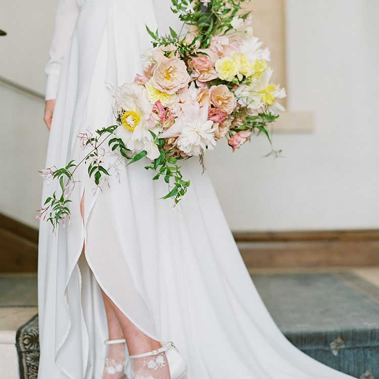 <p>custom wedding dress and lace shoes</p><br><br>