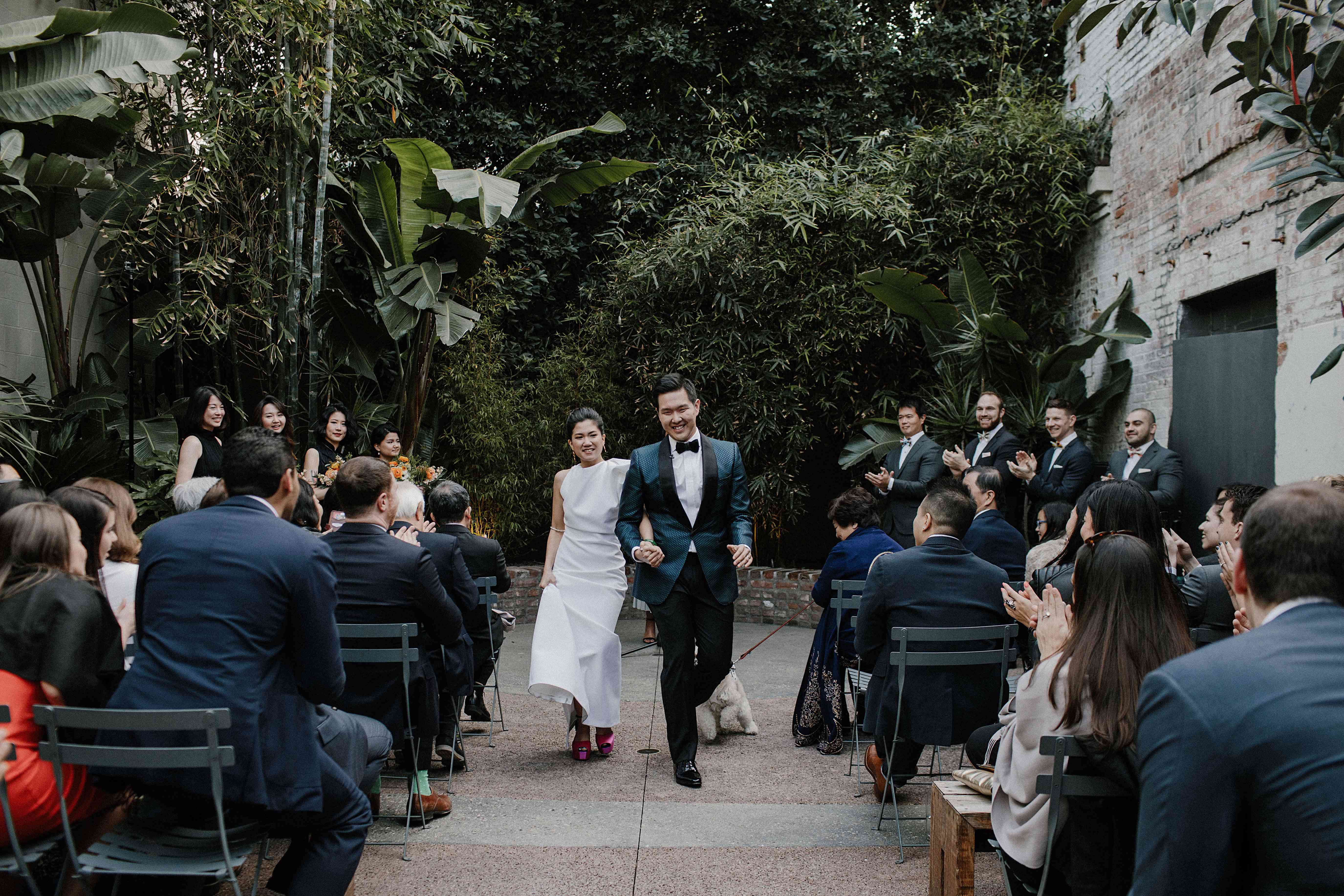 <p>Bride and groom recessional</p><br><br>
