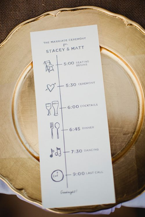 Wedding Ceremony Timeline.A Wedding Ceremony Program Idea We Love Day Of Timelines