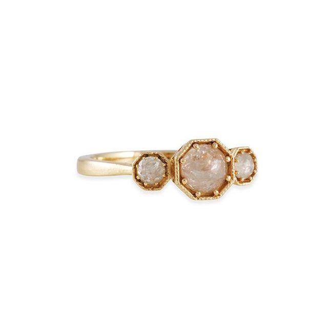 Lori McLean Raw Diamond Octagon Ring