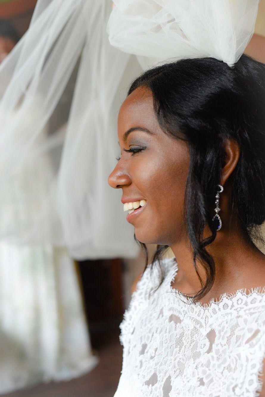 Bride close up with veil