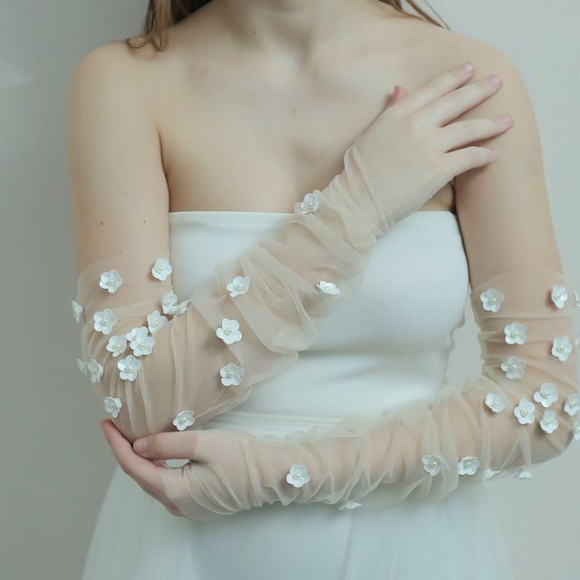 KerryParkerStore 3D Floral Gloves