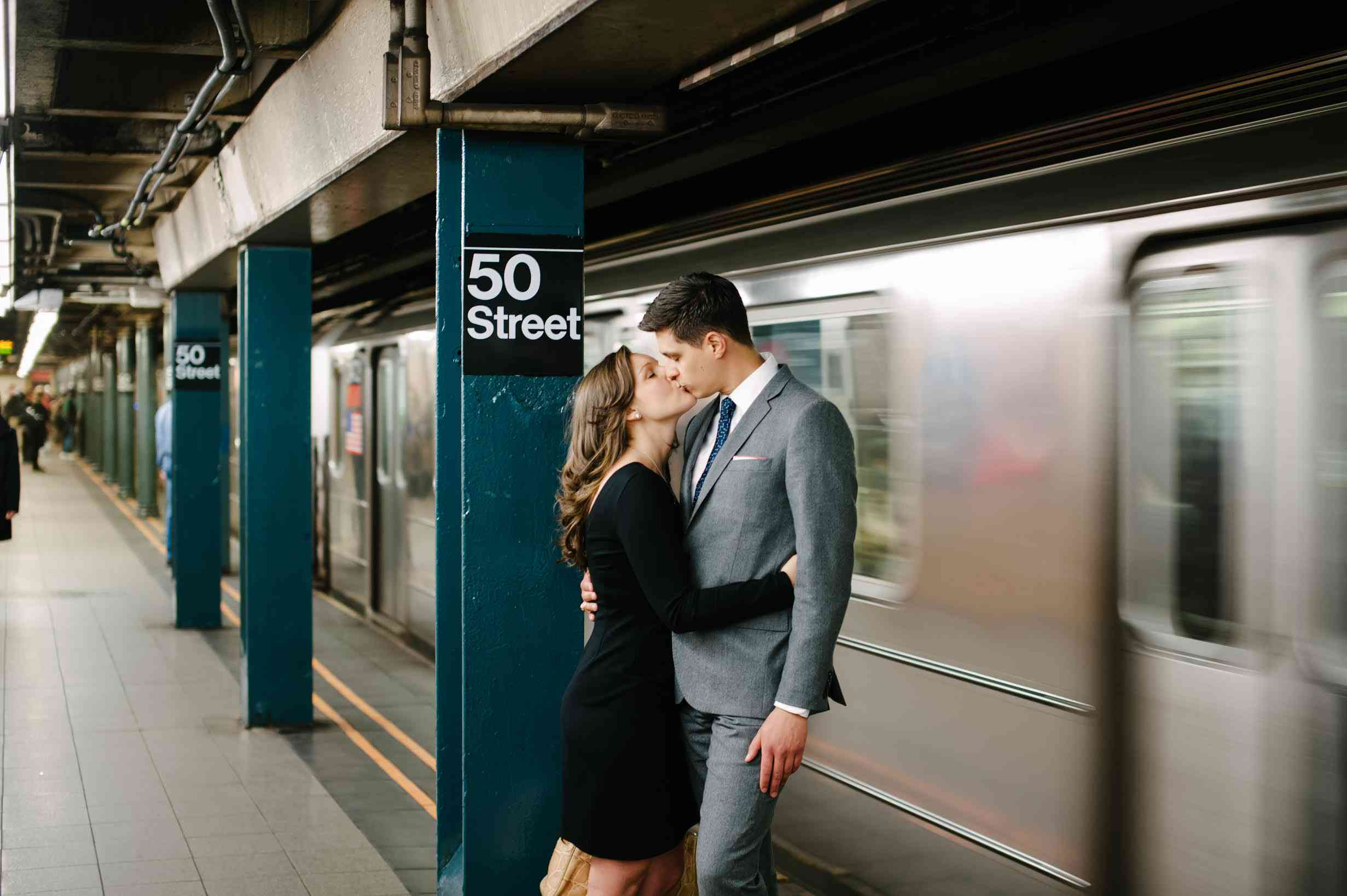 Couple in subway