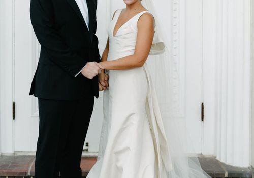 augusta wedding, bride and groom