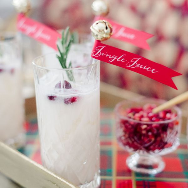 Winter wedding cocktail with