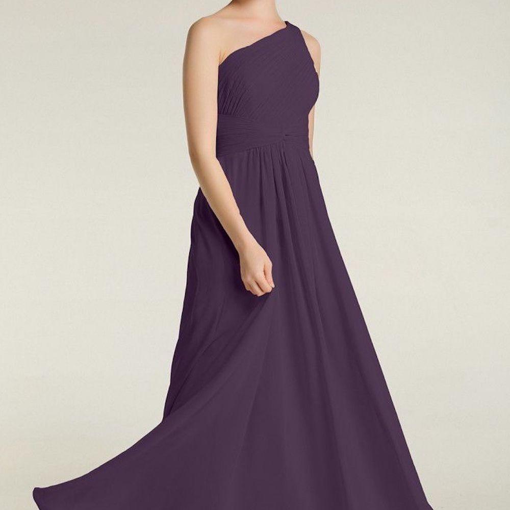 Babaroni Emily One Shoulder Dresses with Pleated Bodice