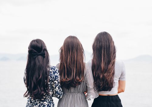 3 women from behind