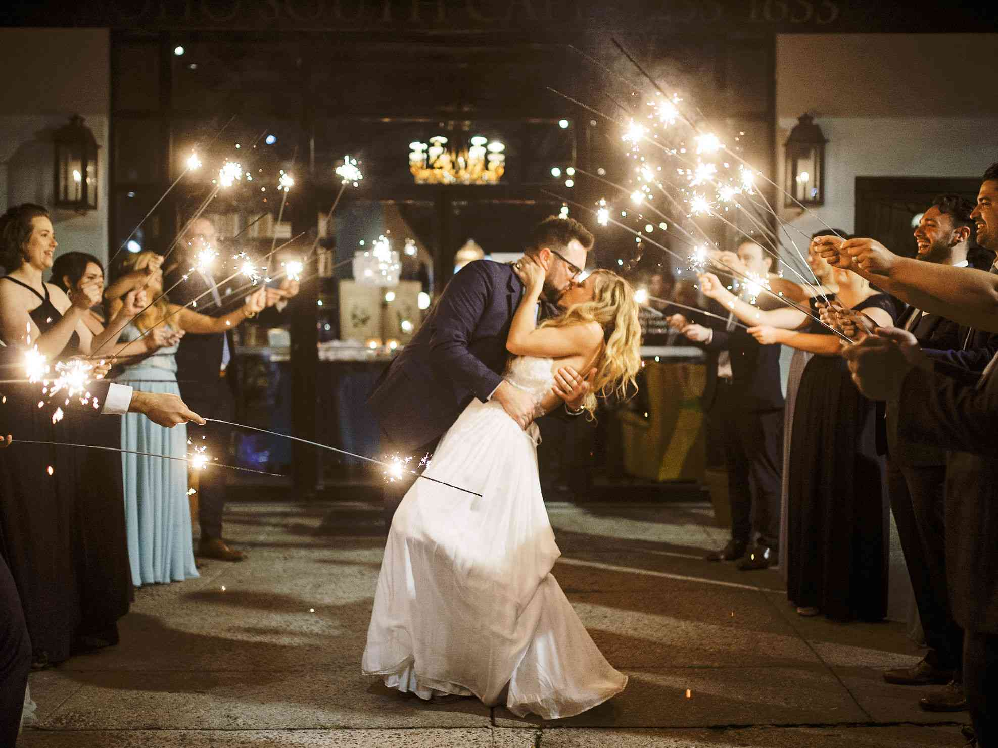 whimsical savannah wedding, bride kissing groom