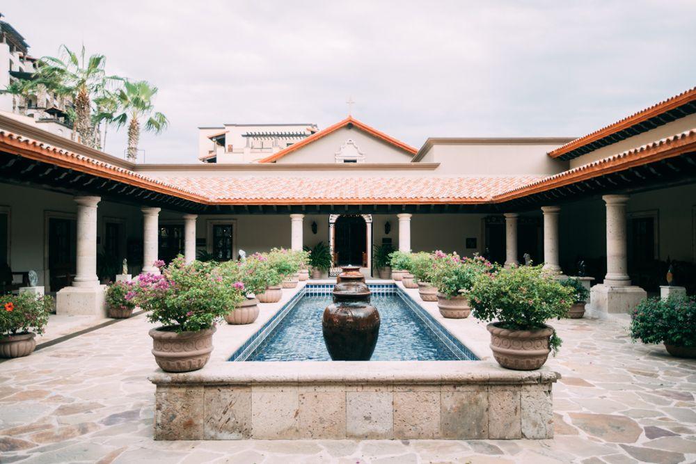 Shot of pool at wedding venue