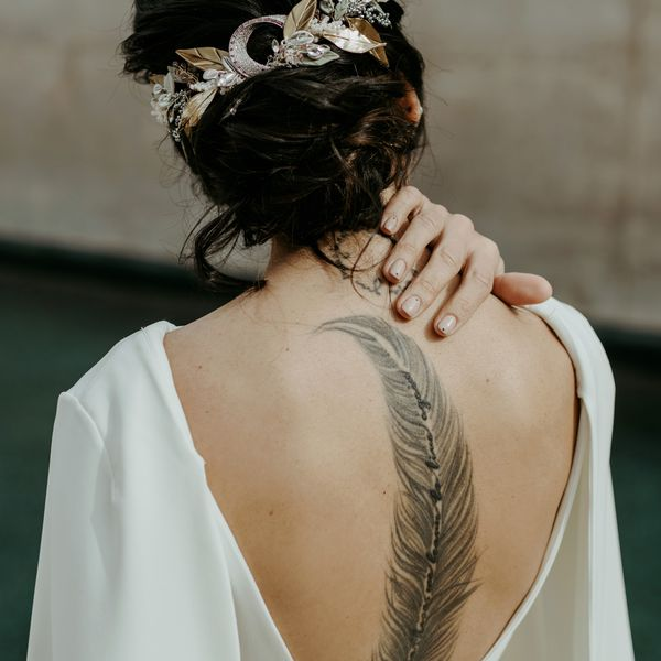bride with tattoo