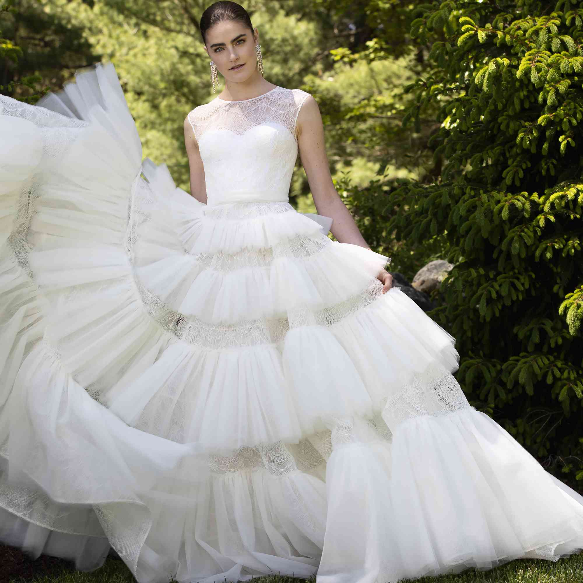 Tiered bridal gown
