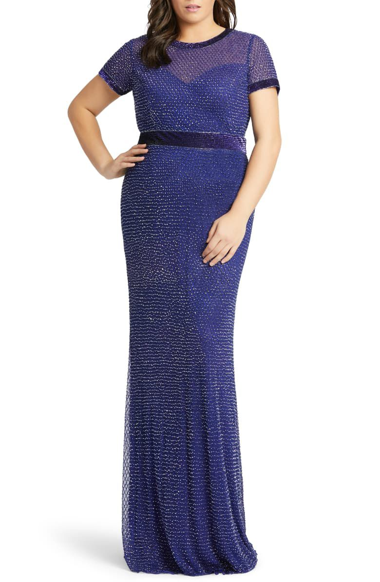 Mac Duggal Diamond Grid Beaded Gown, $458