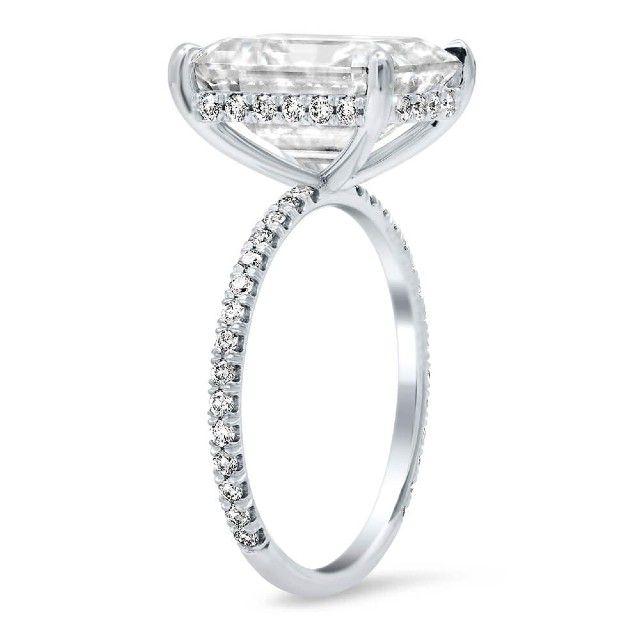 hidden halo diamond ring