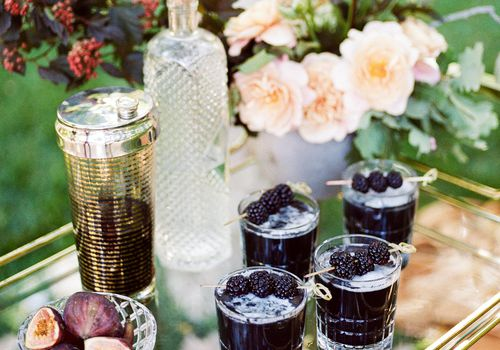 Fall wedding drinks