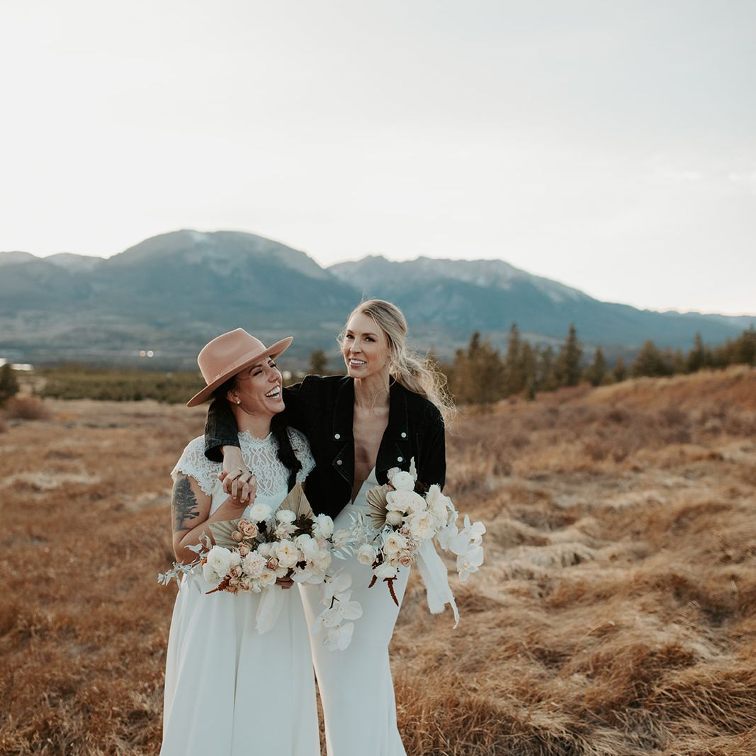 Brides after ceremony in second looks