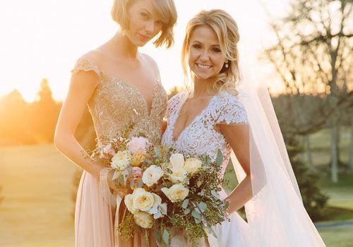 Taylor Swift as a bridesmaid