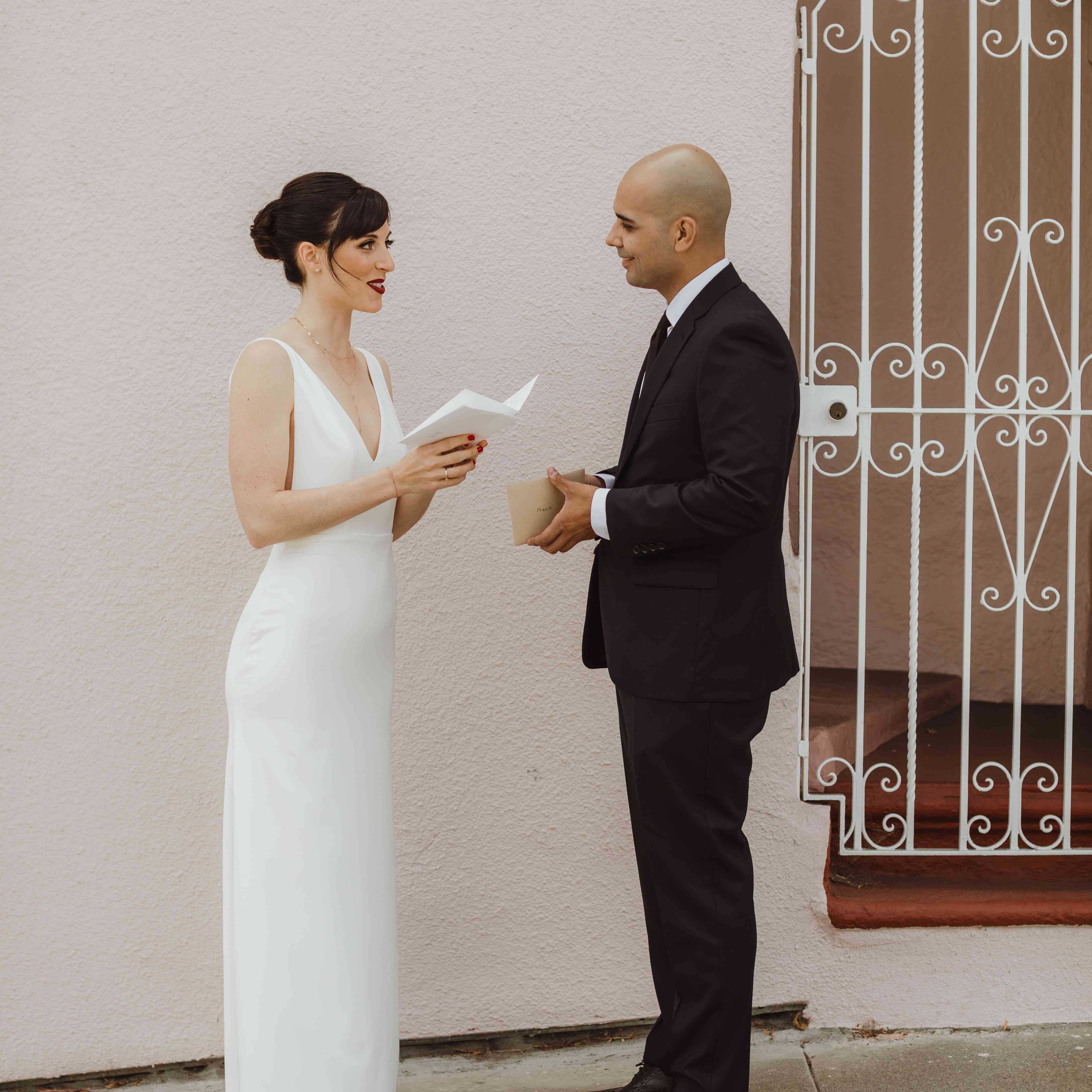 exchanging love letters before ceremony