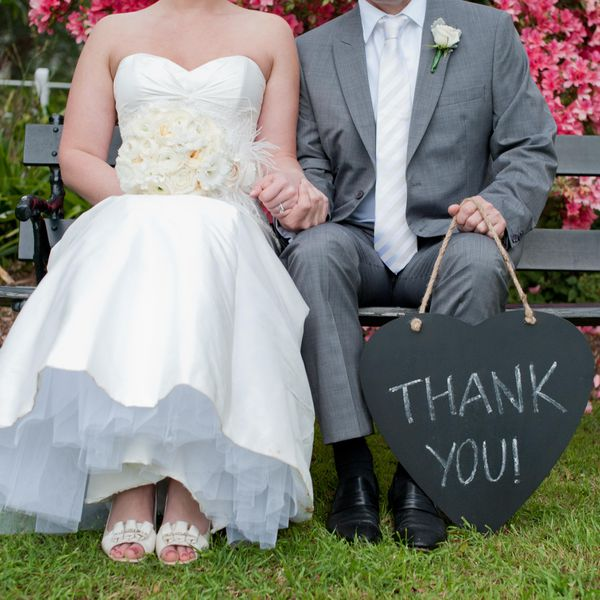 Wedding Thank You Etiquette No Gift