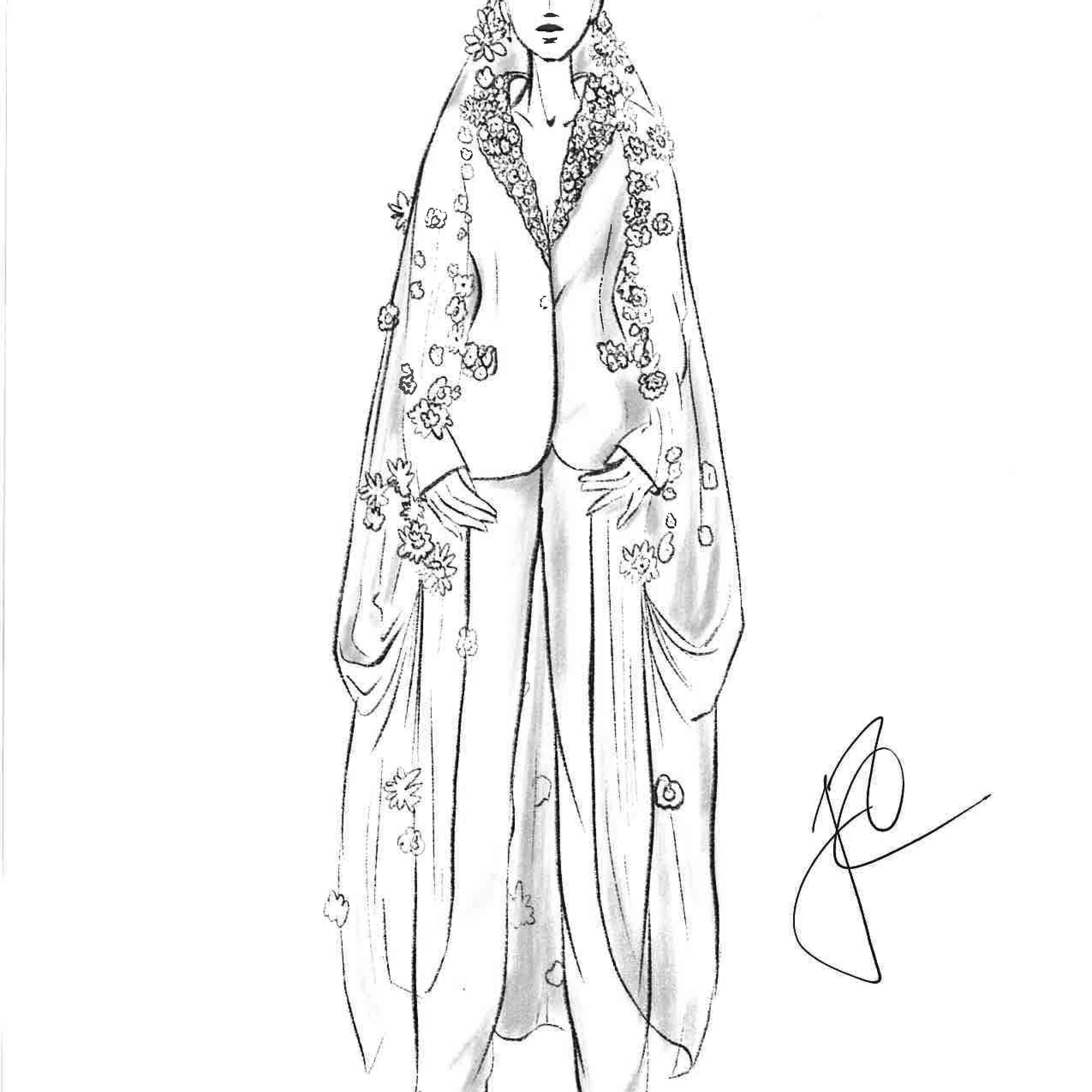 Justin Alexander Bridal Fashion Week Fall 2020 Sketch