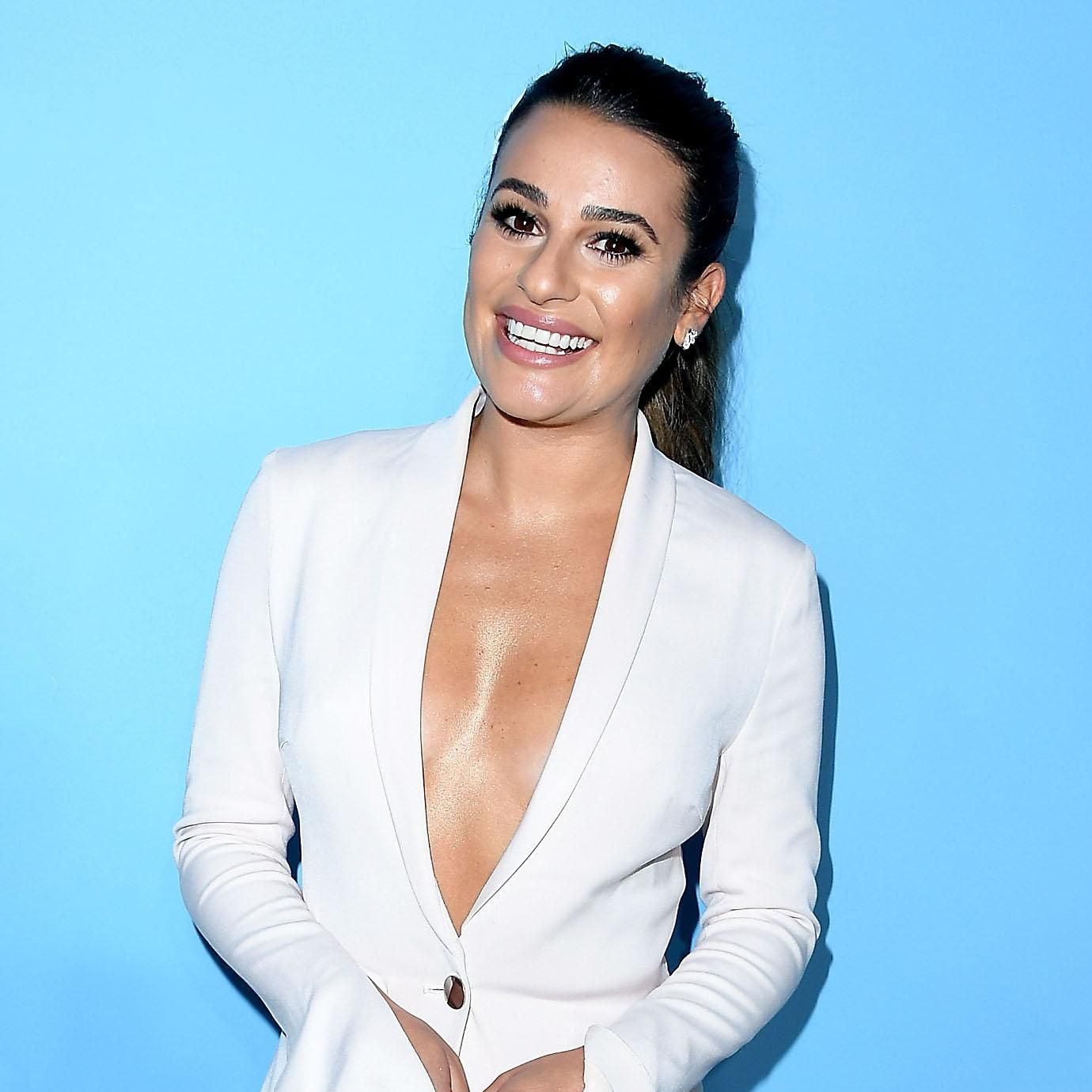 Lea Michele S Monique Lhuillier Reception Dress Was The Complete