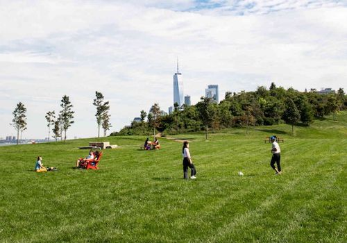 sunny day at Governors Island