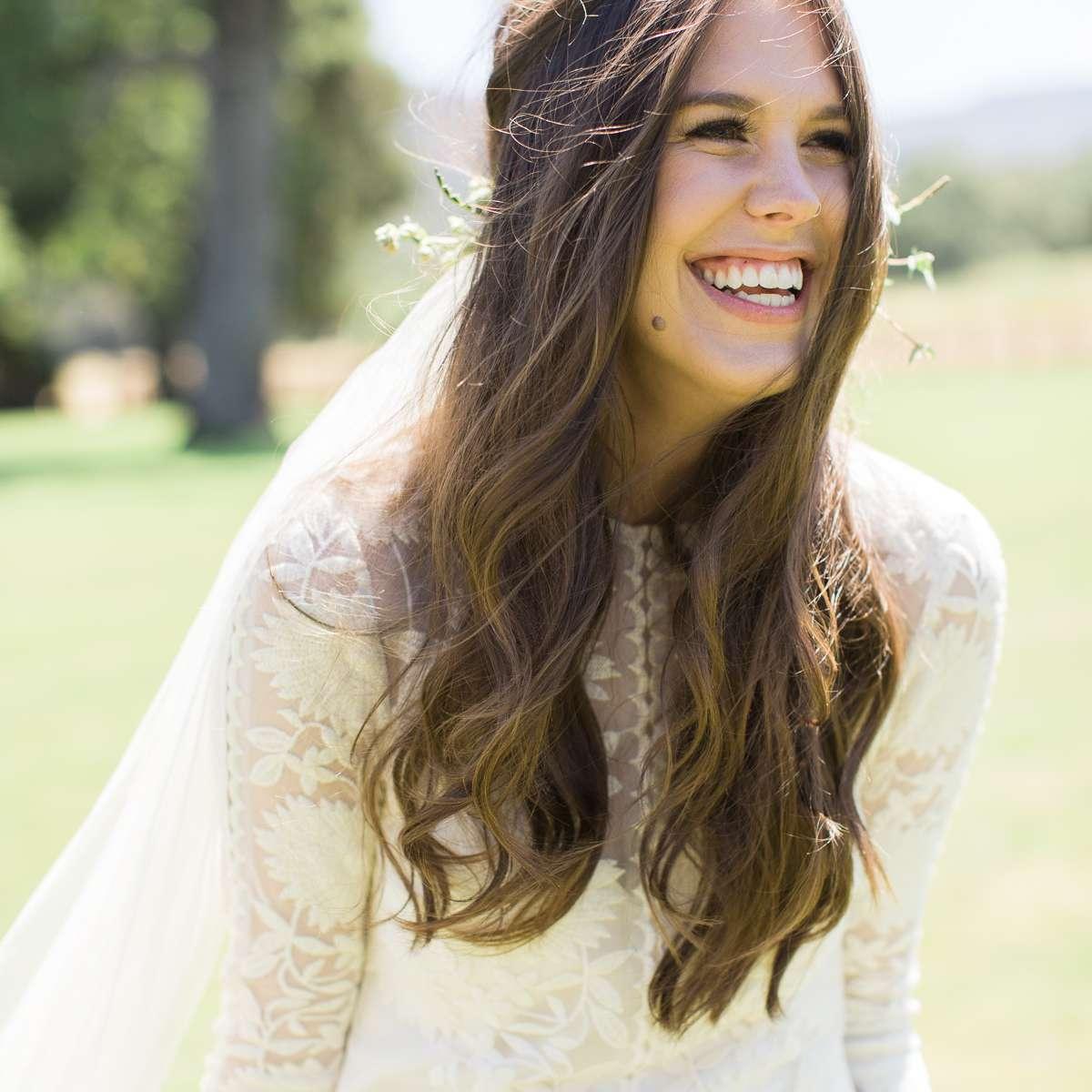 <p>Bride close up shot smiling</p><br><br>