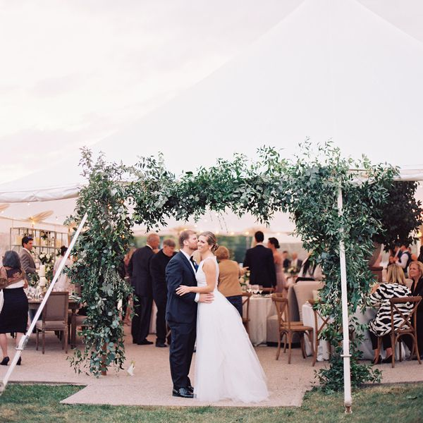 <p>bride and groom reception tent</p>